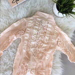 House of  CB lace blush bodysuit