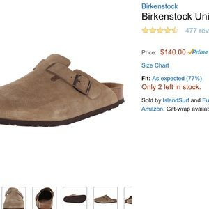 Birkenstock Shoes - Birkenstock taupe suede 39R