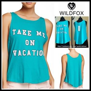 Wildfox Tops - WILDFOX Tank Top Tee Take Me On Vacation