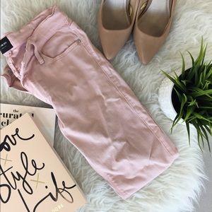 Black orchid blush/pink jeans