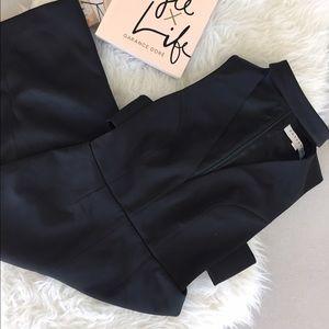 Keepsake cutout black midi dress