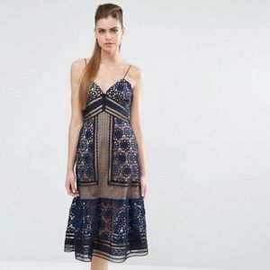 Self Portrait Dresses & Skirts - NWT Self Portrait Strappy Navy Dress authentic