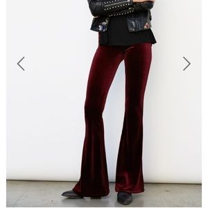 Blank NYC Pants - velvet fit and flare stretch pants