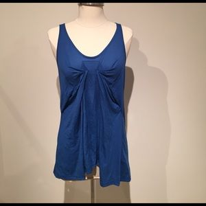 Sleeveless blue Topshop top