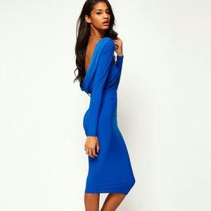 Asos Blue Midi Bodycon Dress