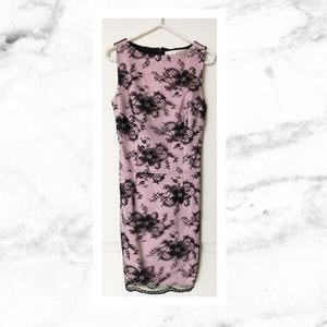 Wheels and Dollbaby Dresses & Skirts - Wheels and Dollbaby Black & Pink Lace Mini Dress