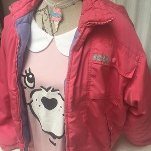 Fairy kei jacket pink jansport vintage kawaii