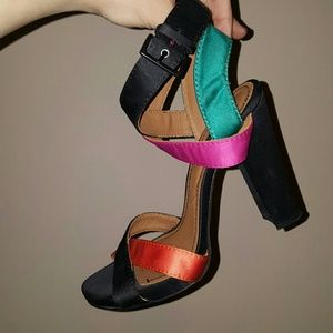 Zara sexy heels 40 sandals colorful ankle strap