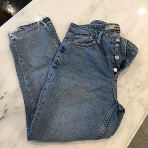 Topshop Moto Step Hem Jeans
