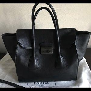 Prada Handbags - Prada glacé calf handbag Nero (black)