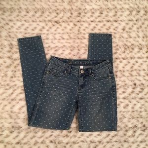 LC Lauren Conrad Denim - Lauren Conrad Heart Polka dot Skinny Jeans