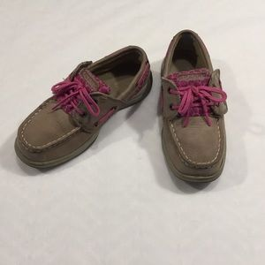 Sperry Top-Sider Other - Sperry Top-Sider Tan & Pink Kids Loafers Size 2.5M