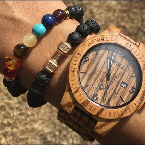 Evolve Always Other - 🆕Lava Bracelet With Colorful Chakra Stones