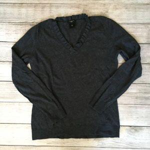 Ann Taylor Ruffle Neck Sweater