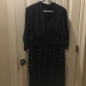 SL Fashions Dresses & Skirts - 2pc Black Dress LBD 18W