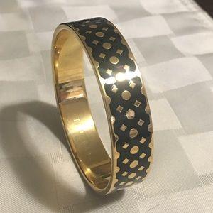 Ted Baker London Jewelry - Ted Baker Clova Enamel Dot Bangle, Black/Gold