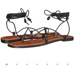 Like new! Black lace-up gladiator sandals by Lucky