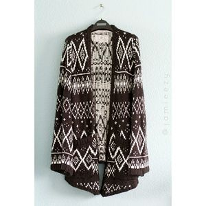 Element | Knit Bell Sleeve Oversized Open Cardigan