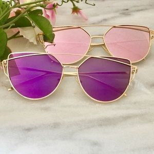 WILA Accessories - NEW! Cat eye sunglasses mirrored purple or pink