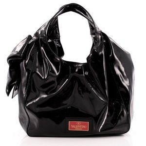 Valentino Handbags - Valentino Patent Leather Nuage hobo bag