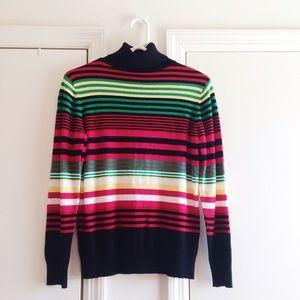 UNIF Sweaters - Rasta Striped Turtleneck Sweater