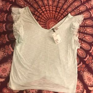 Divided Tops - Divided lace tee NWT