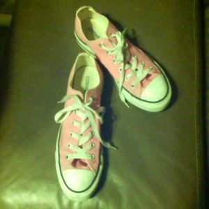 PINK Converse All Star Low Top Fashion Sneakers 8