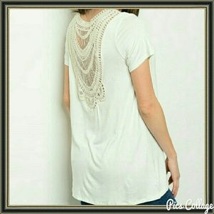Threadzwear Tops - Crochet-Back Top