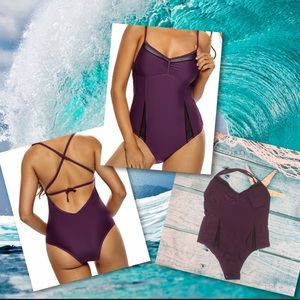 Other - 🌸*New* sexy one piece mesh slits Swimsuit Plus