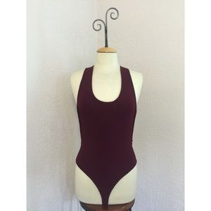 Romeo & Juliet Couture Other - NWT Romeo+Juliet Couture Burgundy Bodysuit size M