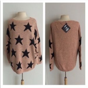 Sweaters - BLOWOUT! Light pink star sweater