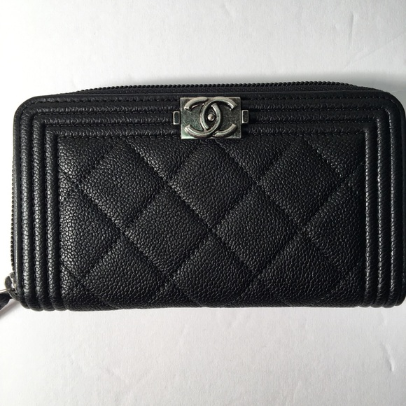 7ff6293cda9e CHANEL Bags | Sold Authentic Boy Zip Around Wallet | Poshmark