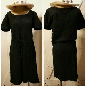 Newport News Dresses & Skirts - Black striped day beach pool dress tunic
