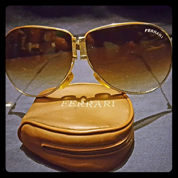 Vintage Ferrari Folding Sunglasses