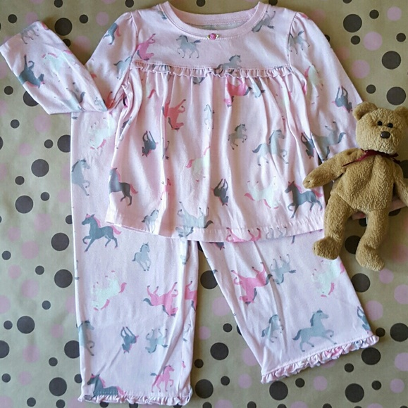 eeadc45585 Carter s Other - 3T CARTERS PINK HORSE PAJAMAS