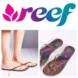 Reef Shoes - NEW!  Reef Blue Caribe Uptown thong sandals