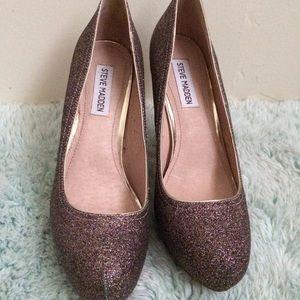 Steve Madden Multi color glitter heels