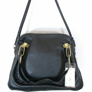 Handbags - BESSO BLACK LEATHER