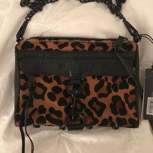 Rebecca Minkoff leopard fur leather bag crossbody