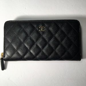 87173a97df9f00 CHANEL Bags | Auth Classic Zipped Around Long Wallet | Poshmark