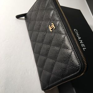 00be26481d132f Women Chanel Wallet Black Caviar Zip on Poshmark