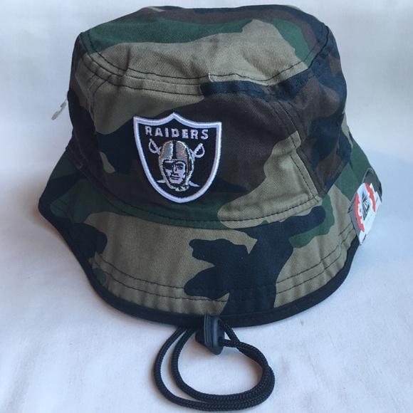 a49289db08c Oakland Raiders Camo bucket hat