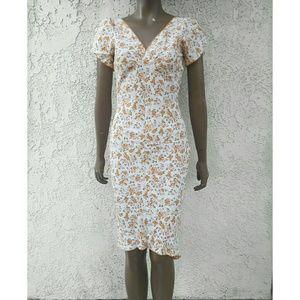 Peach Floral Dress NWT