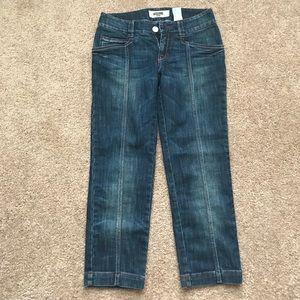 Moschino skinny jeans; size 28