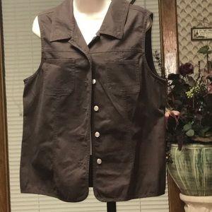 Denim & Co.  Jackets & Blazers - Denim & co.QVC Brown vest top