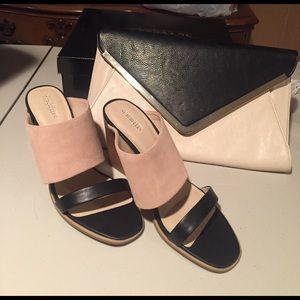 """Seychelles Shoes - Seychelles black/blush """"temple"""" slides"""