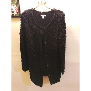 Black Wool looking cardigan