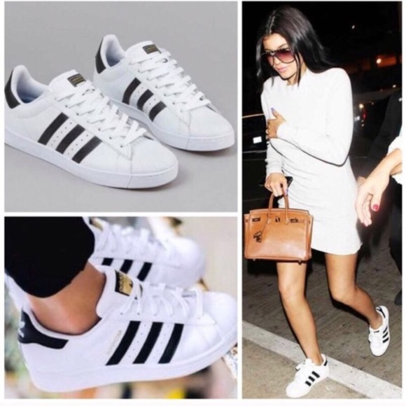 5e457cfdad16a1 Adidas Shoes - Adidas White Superstar Triple Stripe Sneakers 8