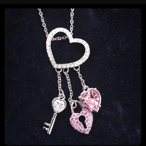 Swarovski key to my heart pendant