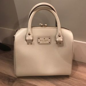 KATE SPADE -Wellesley Alessa White Satchel